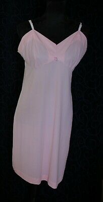 vintage full slip petticoat LOLLY PINK nylon vintage s16  96cm under bust