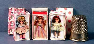 Dollhouse Miniature 1:12 Ginny Muffie & Ginger Doll Box Set 1950s dollhouse girl