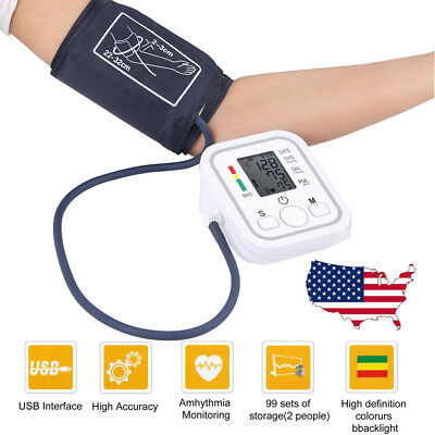 Automatic Digital Upper Arm Blood Pressure BP Monitor Medical Health Care Home
