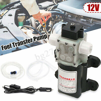 12V Electric Car Oil Diesel Fuel Bowser Transfer Pump Gas Water Petrol 4L/min