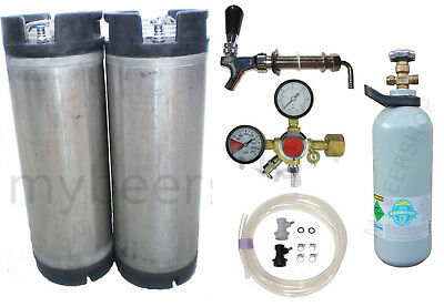 XPERT BALL LOCK KEGGING KIT w ENTRY REGULATOR & CO2 HOME BREW BEER KEG KEGERATOR