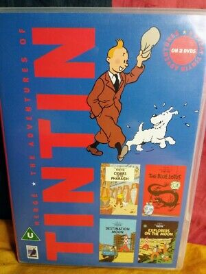 Herge - The Adventures of Tintin: 4x Adventures (DVD, 2002, 2-Disc Set)