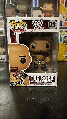Funko Pop! WWE The Rock #03 Dwayne Johnson Vaulted Vinyl Figure WITH PROTECTOR!