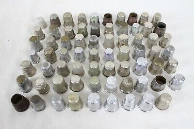 69 Vintage Metal Sewing Thimble Collection Lot Collectable Ornate Rare Old