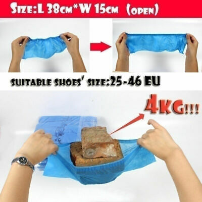 100x Anti Skid Wearable Disposable Durable Non Woven Fabric Non-slip Shoe Covers