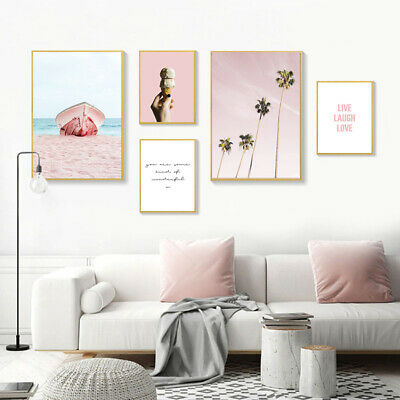 Ocean Coastal Beach Canvas Poster Seascape Wall Art Print Living Room Decoration