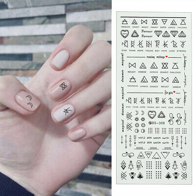 Nail Art Water Decals Transfer Stickers Letter Manicure DIY Tips Nails DIY Decor