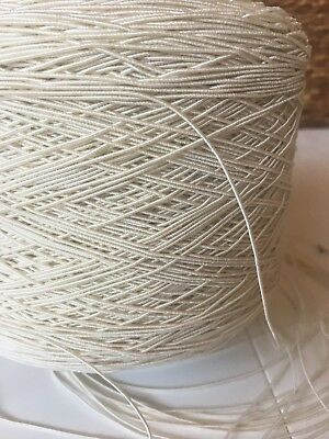 White 1.2mm Round Shirring Elastic Smocking Ivory Cream Beading