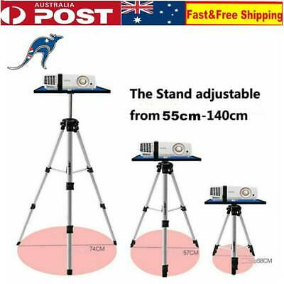Adjustable Notebook Holder Projector Stand 55-140cm Aluminium Portable Tripod AU