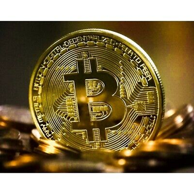 10 Pcs Bitcoin Gold Plated Physical Fantasy Commemorative Collector Virtual Coin