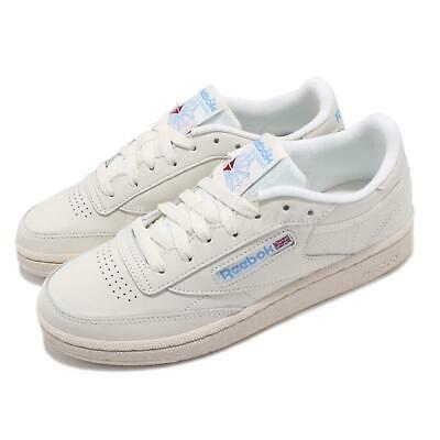 b0d2602cda4 Reebok Club C 85 Vintage Beige Chalk Blue Womens Casual Shoes Sneakers  V69406