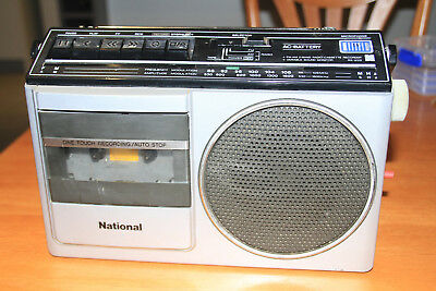National RX-1120A FM AM Radio Cassette Recorder Vintage TAIWAN
