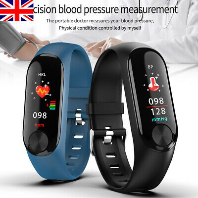 Smart Watch Fitness Activity Tracker Bluetooth Heart Rate Blood Pressure Fit-Bit