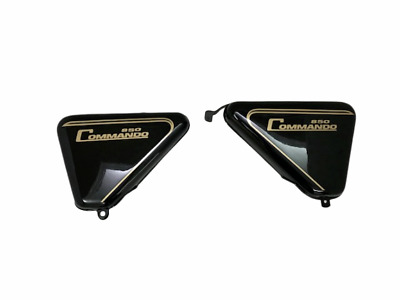 Norton Commando Roadster Black Painted Side Panel - |Compatible For