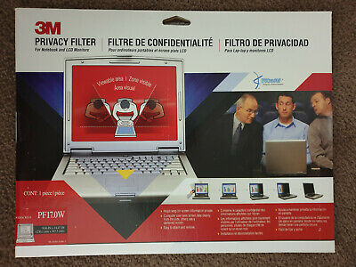 """3M Privacy Filter Screen 17"""" Widescreen PF17.0W for Desktop and Laptop Monitors"""