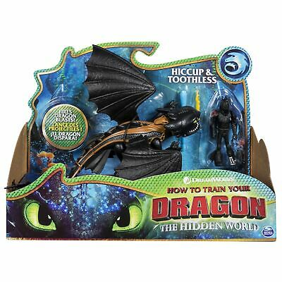 DreamWorks How To Train Your Dragon Hiccup & Toothless Dragon & Viking Figures