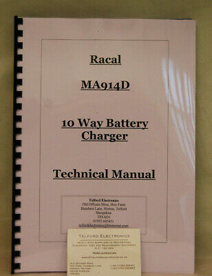 Racal MA914D 10 Way Battery Charger Technical Manaul Professional Photocopy
