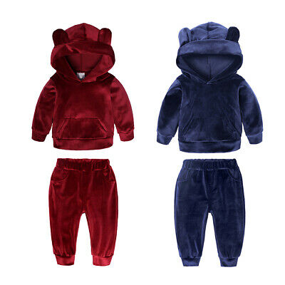 Baby Boys Girls Spring Autumn Clothes Set Hoodie Sweatshirt Pants Casual Outfit