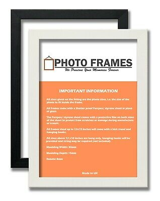 Picture Photo Flat Frames Wood Effect Picture Frames Black&White Colours Frames