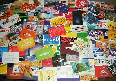 COLLECTIBLE GIFT CARD LOT of 85 Different Cards No Value Starbucks Walmart More
