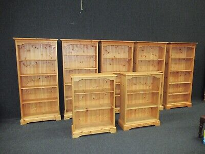 Pine Library Bookcase Victorian Design Antique Finish Choice Of 2