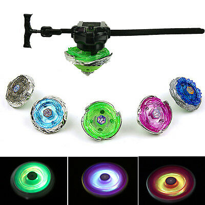 Beyblade Burst LED Light Top Booster w/ Bey Launcher Fight Toy Kid Gift Random