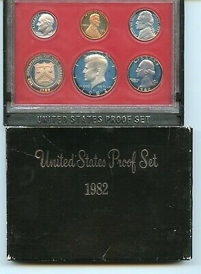 Uncirculated 1982 S United States Proof Set of (5) Coins ME266