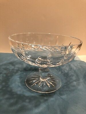 Waterford Lead Crystal Cut Glass Lismore Footed Bowl 6 1/4 ""