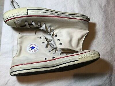 e0dd4acd2abf99 VINTAGE 70S USA Converse Chuck Taylor All Star Shoes White Oxford ...