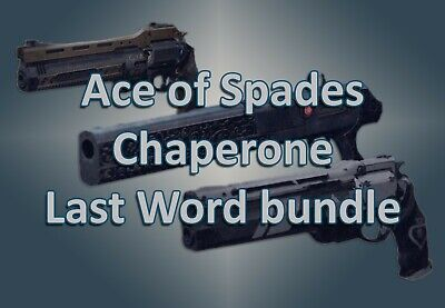 Destiny 2 Shadowkeep Ace of Spades+The Last Word+Chaperone Bundle PS4/PC/Xbox