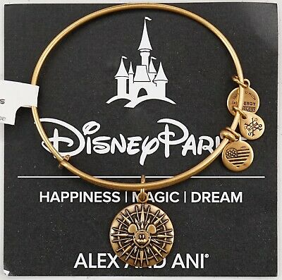 NEW Disney Alex And Ani California Adventure Mickey's Fun Wheel Gold Bracelet