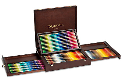 Caran d'Ache Pablo & Supracolour 160 Colour Pencils Set Artist Wooden Box Gift