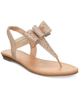 5c4e5db5d30 Material Girl Womens Shayleen Open Toe Casual T-Strap Sandals