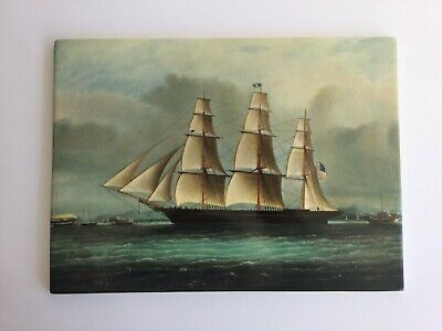 Wedgwood 'Sea Witch' Porcelain Tile / Plaque - Clipper Ships Of America Series