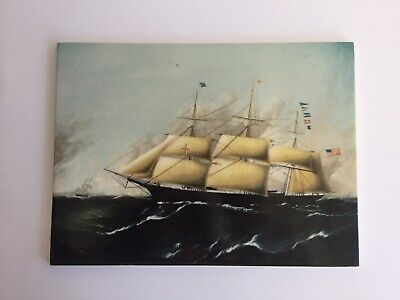 Wedgwood 'Dreadnought' Porcelain Tile / Plaque Clipper Ships Of America Series