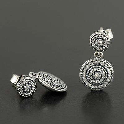 2e6bdc236 AUTHENTIC PANDORA RADIANT Elegance Earrings, Clear CZ, 290688CZ ...