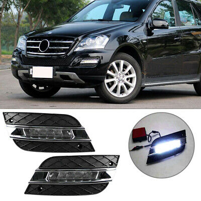 DIRECT FIT 12W White LED Daytime Running Lights For 09-11 Mercedes
