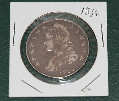 1836 Lettered Edge Capped Bust Silver Half Dollar