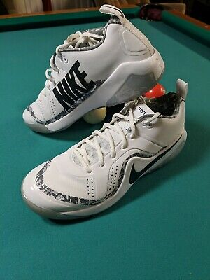 2a2951f63 NEW Nike Force Zoom Trout 4 Turf Baseball White Black Silver  120 Mens 14