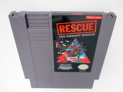 Rescue the Embassy Mission game for Nintendo NES -Loose