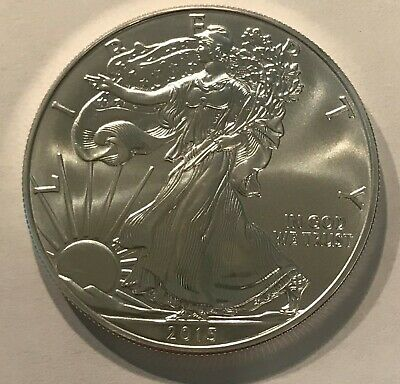 American Silver Eagle, 2015  .999 Fine Silver  No Toning Or Discoloration