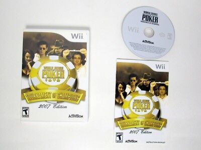 World Series of Poker Tournament of Champions 2007 game for Wii Complete