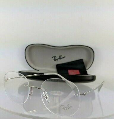 d1528c1c40e Brand New Authentic Ray Ban Eyeglasses RB 8747 1002 50mm Silver Frame R8747