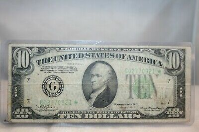 1934A $10 Star Federal Reserve Note Chicago