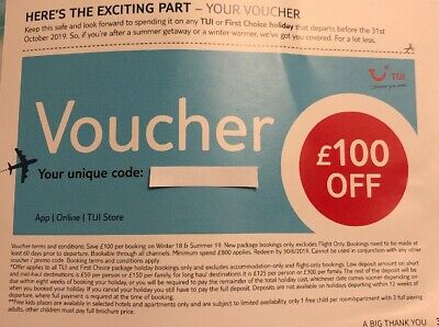 Tui / First Choice Holiday Voucher