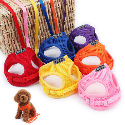 Leash S L Pet Control Harness Dog Cat Soft Mesh Walk Collar Safety Strap Vest