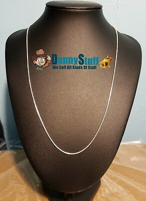 2mm Round Snake Chain Necklace 925 Sterling Silver 22 inch New Free Shipping USA