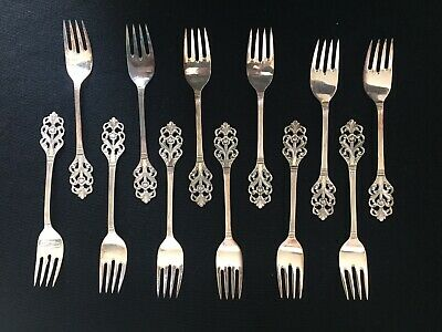 "Vintage Scandinavian Sterling ""Viking Rose"" Service for 12 by TH Marthinsen"