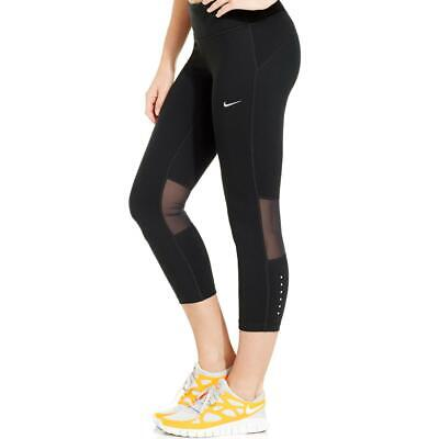 8a54e98d0a0e NWT  80 Womens Nike Fly Lux Crop TIghts 933627 010 Training sz XS-L Black  Sheer.  34.99 Buy It Now 24d 6h. See Details. Nike Womens Cropped Dri-Fit  Mesh ...