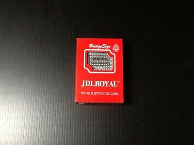 Playing Cards - JDL Royal - Bridge Style - 100% Plastic Cards - 1 to 3 Pack